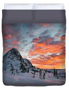 The Sun Rises, Illuminating The Sky Duvet Cover