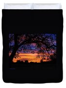 The Sun Sets For Mike Duvet Cover