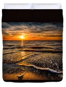 The Sunset Duvet Cover by Adrian Evans