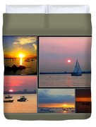 The Sunsets Of Long Island Duvet Cover