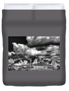 The Supes In Black And White  Duvet Cover
