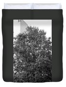 The Survivor Tree In Black And White Duvet Cover