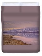 The Swans On Winter Solstice Duvet Cover