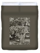 The Swinging Tree Sepia Duvet Cover