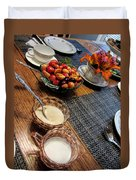 The Table Is Set - Y'all Come Duvet Cover