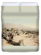 The Taos Pueblo Duvet Cover