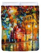 The Tears Of The Fall - Palette Knife Oil Painting On Canvas By Leonid Afremov Duvet Cover