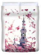 The Temple Bell Dies Away 1. Pink Spring In Amsterdam Duvet Cover