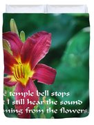 The Temple Bell Duvet Cover