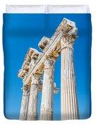 The Temple Of Apollo Duvet Cover by Luis Alvarenga
