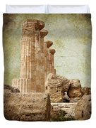 The Temple Of Heracles Duvet Cover