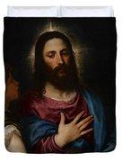 The Temptation Of Christ Duvet Cover