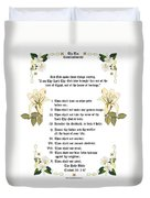 The Ten Commandments Duvet Cover