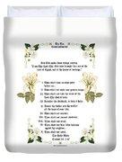 The Ten Commandments Duvet Cover by Anne Norskog