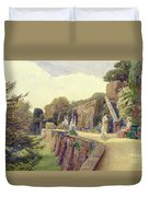 The Terrace At Berkeley Castle Duvet Cover