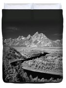 309217-the Teton Range From Snake River Overlook Duvet Cover