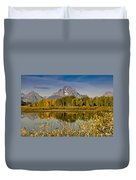 The Tetons And Fall Colors Duvet Cover