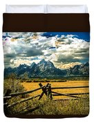 The Tetons Duvet Cover