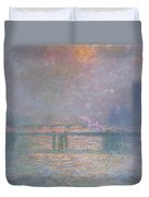 The Thames With Charing Cross Bridge Duvet Cover