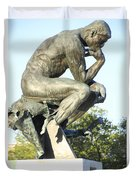 The Thinker Cleveland Art Statue Duvet Cover