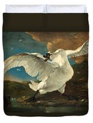 The Threatened Swan Duvet Cover