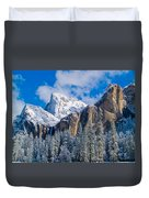 Cathederal Rocks And Bridalveil Duvet Cover