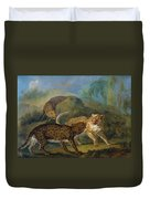 The Three Leopards Duvet Cover