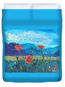 The Three Poppies Duvet Cover