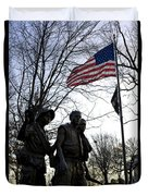 The Three Soldiers - Vietnam War Memorial Duvet Cover