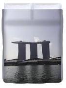 The Three Towers Of The Marina Bay Sands In Singapore Duvet Cover