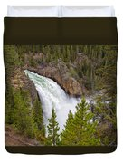 The Thundering Lower Yellowstone Falls Duvet Cover