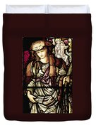 The Tibertine Sibyl In Stained Glass Duvet Cover