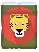 The Tiger Cute Portrait Duvet Cover