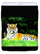 The Tiger In The Woods Duvet Cover