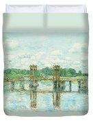 The Toll Bridge New Hampshire Duvet Cover