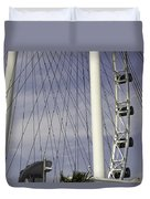 The Top Section Of The Marina Bay Sands As Seen Through The Spokes Of The Singapore Flyer Duvet Cover