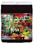 the Torah is aquired with attentive listening 11 Duvet Cover