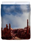 The Totems Monument Valley Duvet Cover