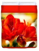The Touch Of Red Duvet Cover