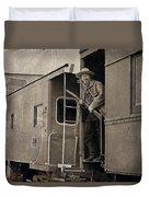 The Train Robber Duvet Cover