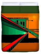 The Train Station  Number 9 Duvet Cover