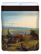 The Travellers Duvet Cover by Christian Ernst Bernhard Morgenstern