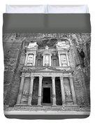 The Treasury At Petra Duvet Cover