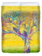 The Tree In Spring At Midday - Painterly - Abstract - Fractal Art Duvet Cover by Andee Design