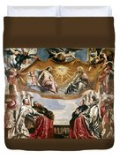 The Trinity Adored By The Duke Of Mantua And His Family Duvet Cover