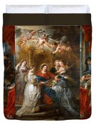 The Triptych Of Saint Ildefonso Altar Duvet Cover