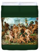The Triumphal Procession Of Bacchus Duvet Cover