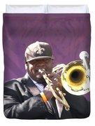 The Trombone Player Duvet Cover