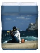 The Trombonist Duvet Cover