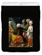 The Turkish Ambassador And His Entourage At The Court Of Naples Duvet Cover